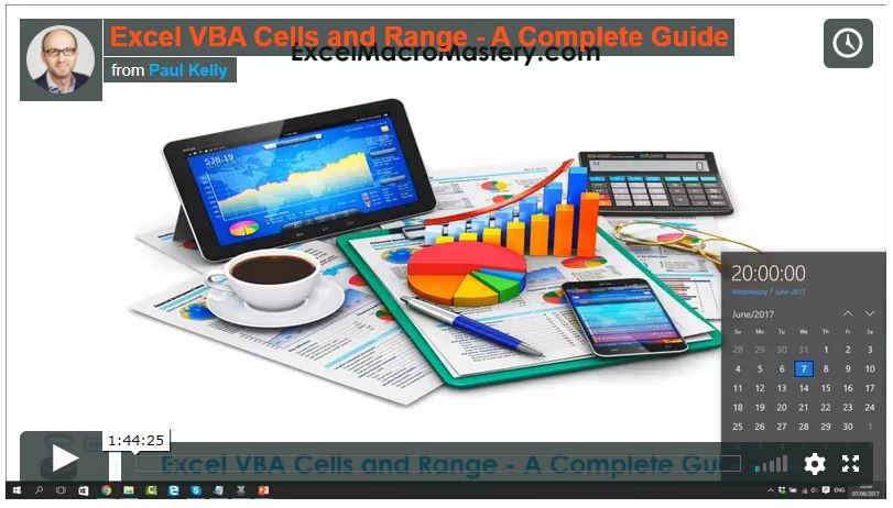 vba ranges video