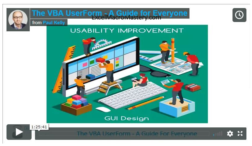 vba userform1 video