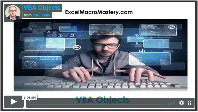 vba objects video