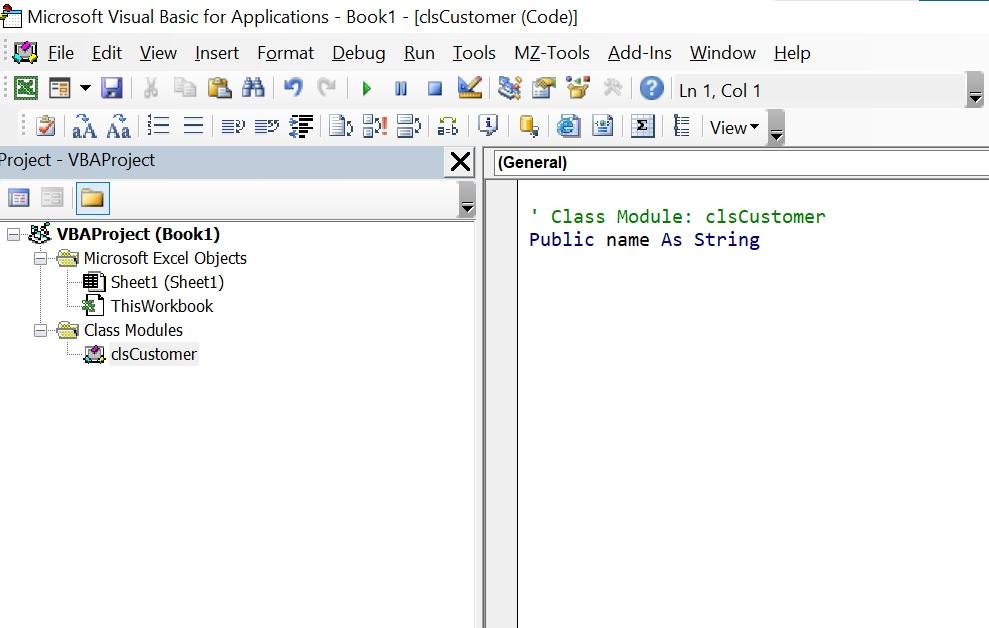 creating a class module