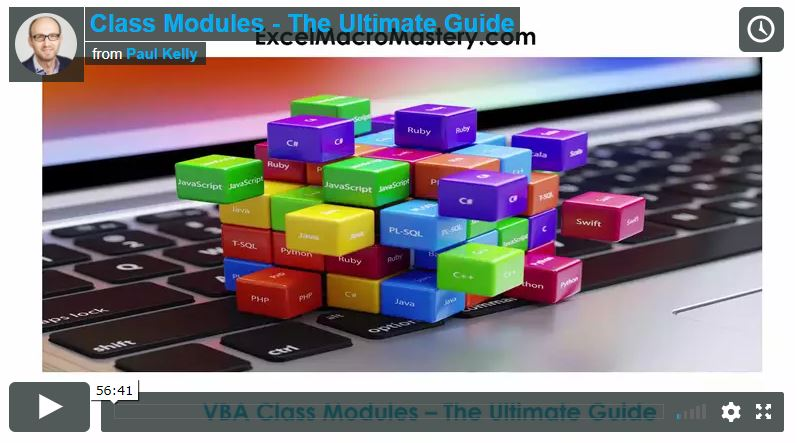 VBA Class Modules - The Ultimate Guide - Excel Macro Mastery