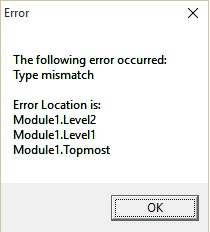 error handling output