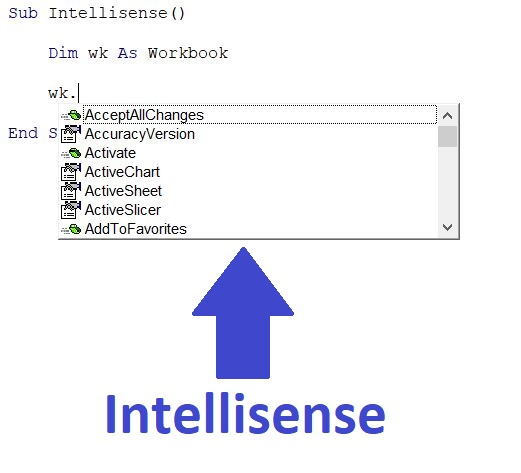 VBA Intellisense